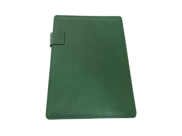 A5 Covered Notebook in Forest Green colour - back view
