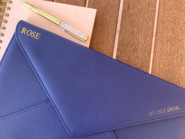personalised laptop case with monogramming