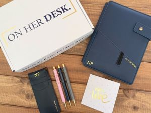 mothers day gift pack including covered notebook and trilogy pen set