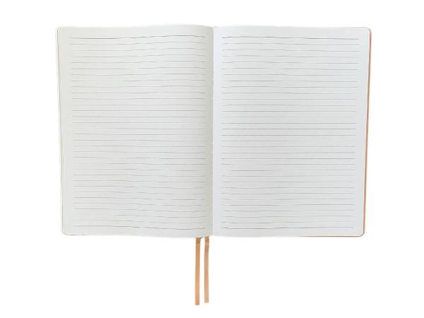 Inside ruled line pages of A4 Hardcover Notebook