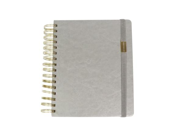 A5 Spiral Notebook for women in grey