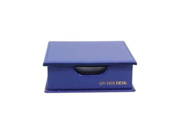 Sticky note holder in navy blue