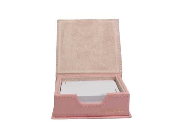 Sticky note holder in pink inside