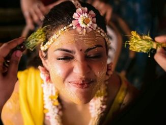 Kajal Aggarwal And Gautam Kitchlu Pre-Wedding Function: Bride-To-Be Looks Happy And Radiant At Her Haldi Ceremony!