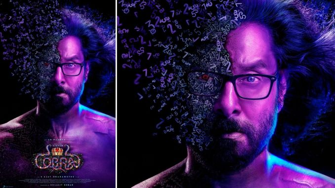 Cobra New Poster: Chiyaan Vikram Looks Like He Got Caught in Thanos' Snap, but With a Numerical Twist in This Stylish New Look!