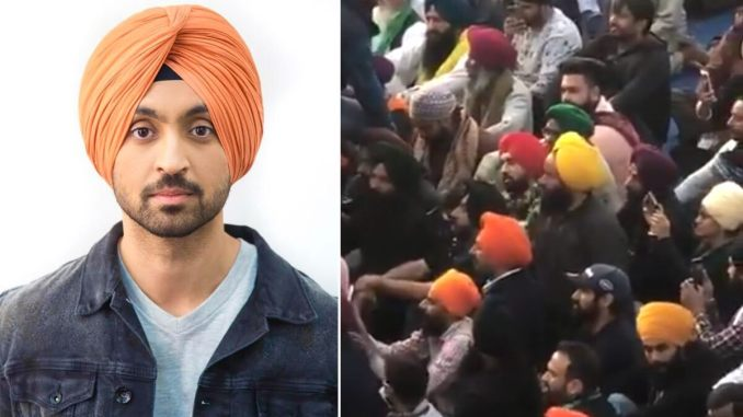 Diljit Dosanjh Joins the Farmers' Protest at Singhu Border, Lends a Massive Support to the Cause (Watch Video)