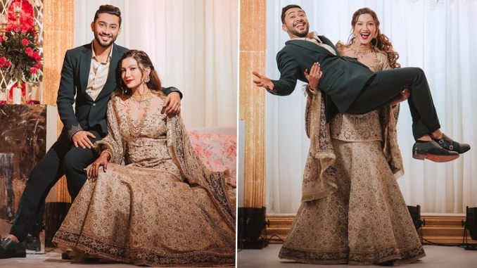 Gauahar Khan and Zaid Darbar Look Made For Each Other AtTheir Waleema Ceremony And We Can't Look Away (View Pics)