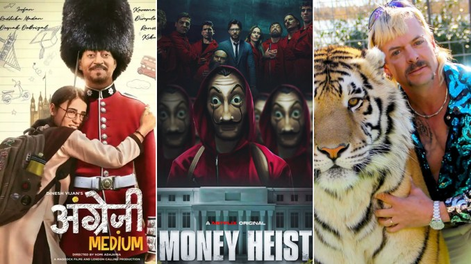 Year Ender 2020: From Angrezi Medium, Money Heist to Tiger King, List of Most Entertaining Web Series, Movies of the Year