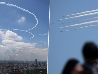 Olympics 2020: Japanese Pilots Drew the Five Olympic Rings Over Tokyo in a Practice Flight