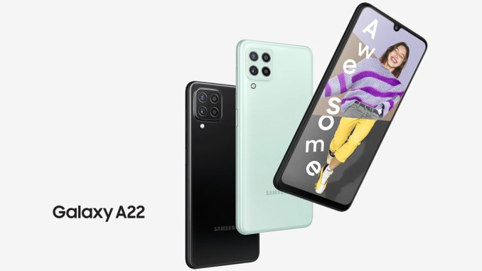 Samsung Galaxy A22 With Quad Rear Cameras Launched in India at Rs 18,499