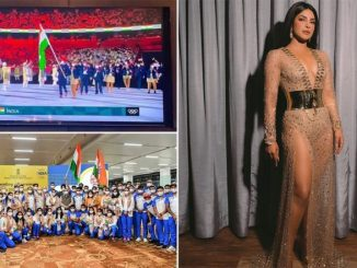 Tokyo Olympics 2020: Priyanka Chopra Cheers As Flag Bearers Mary Kom and Manpreet Singh Lead the Indian Contingent at Opening Ceremony (View Post)