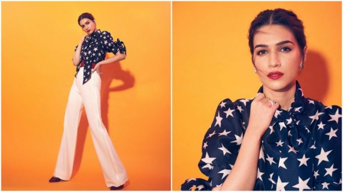 Yo or Hell No? Kriti Sanon in Naeem Khan for Mimi Promotions