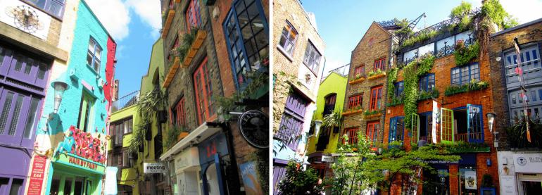Neal's Yard à Covent Garden à Londres