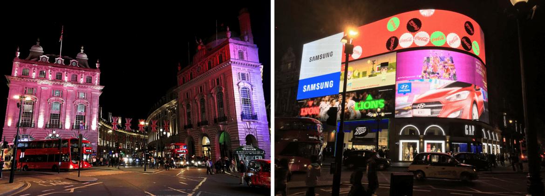 Piccadilly Circus de nuit à Londres