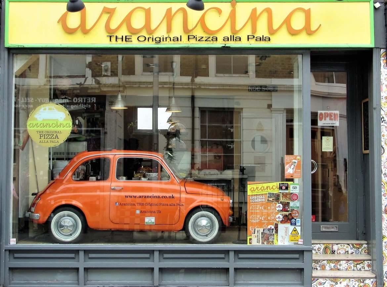 la pizzeria Arancina à Notting Hill à Londres