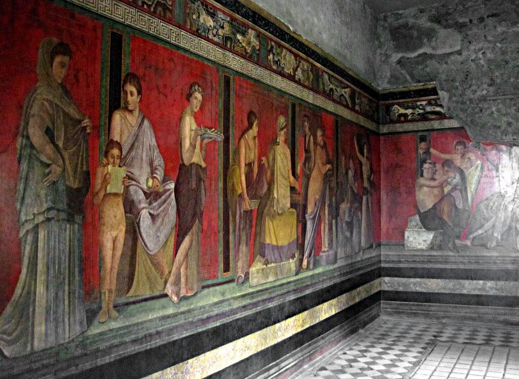 Villa des mystères à Pompéi