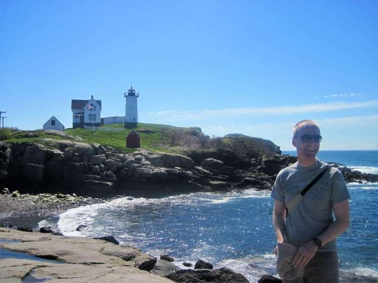Nubble Light à York dans le Maine sur la Côte Est des Etats-Unis