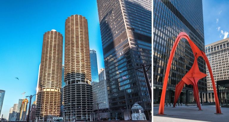 Marina City et Federal Plaza Chicago