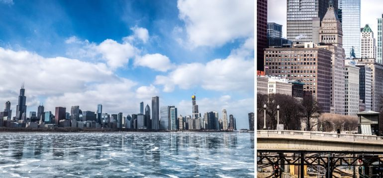 Northerly Island, vue sur la ville de Chicago