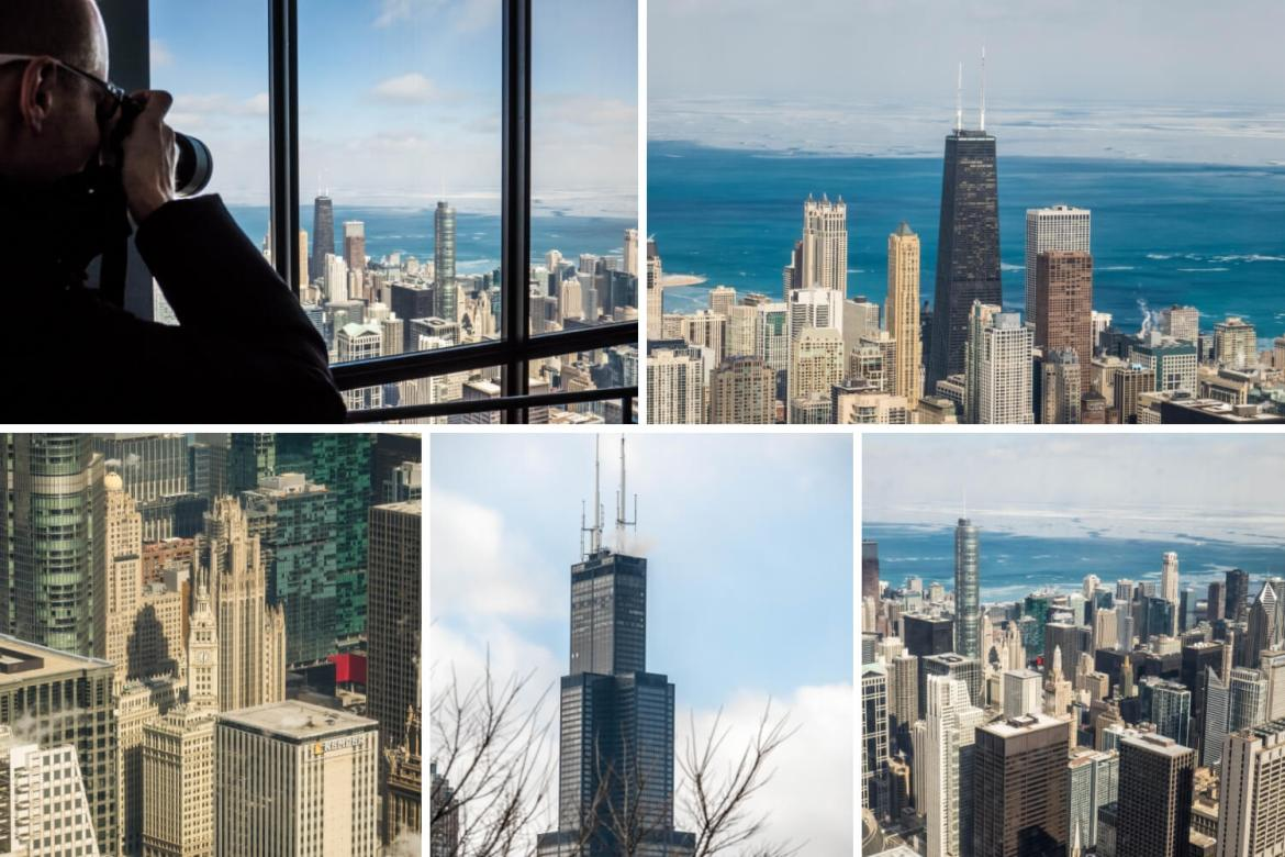 Willis Tower vues depuis le skydeck Chicago