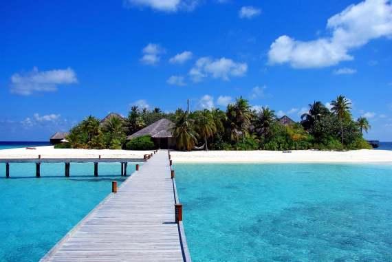 Une île-hôtel pour des vacances aux Maldives