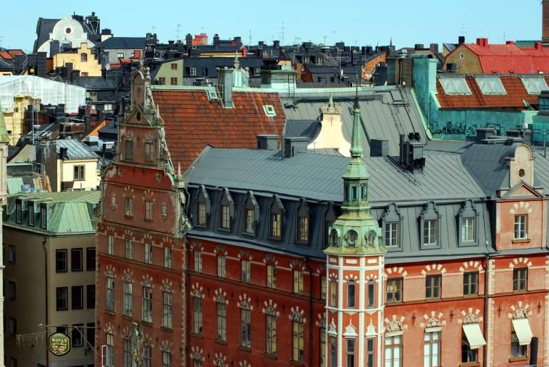 Les toits de Stockholm