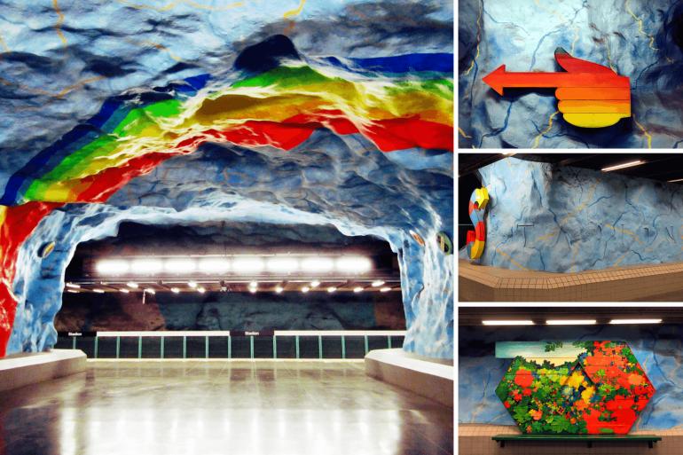Station de métro Station à Stockholm