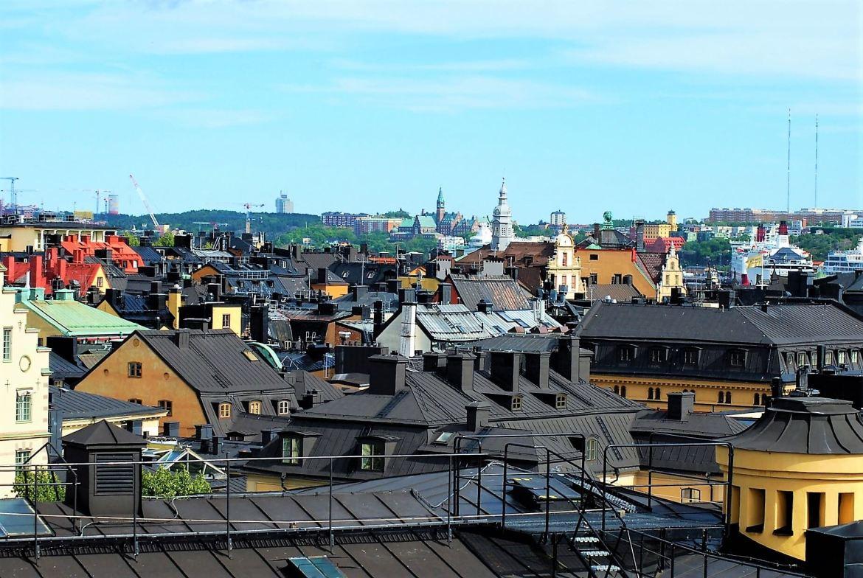 Vue sur Stockholm par les toits