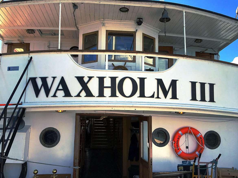 Notre bateau pour la croisière dans l'archipel de Stockholm