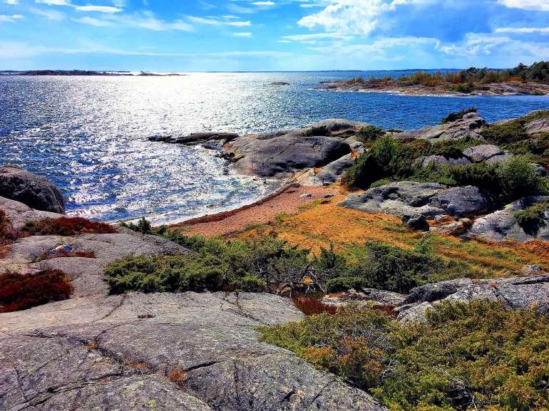 Paysages sauvages de Bullero sur la Mer Baltique