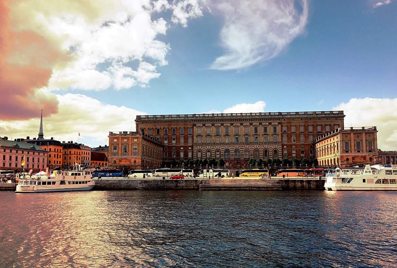 Vue sur Stockholm en bateau