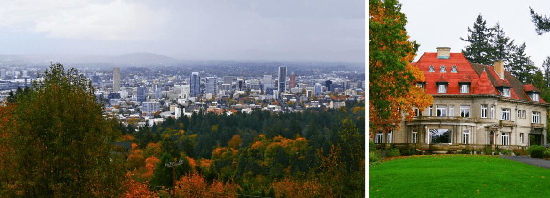 La vue sur Portland depuis la Pittock Mansion