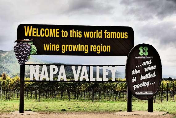 Visiter Napa Valley le panneau au bord de la route en Californie