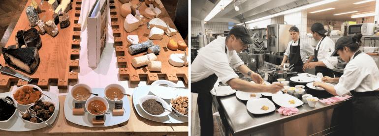 Cuisine et buffet de fromage du Spettacolo du Lenkerhof
