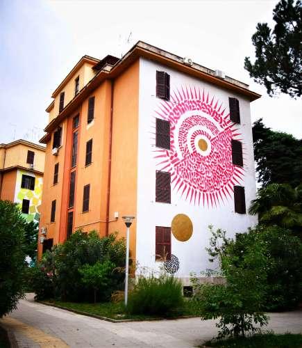 Street art à Rome Domenico Romeo Alme sol invictus Tor Marancia