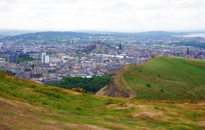 Arthur's seat vue sur Edimbourg Ecosse