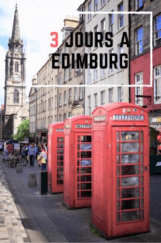 Visiter Edimbourg en 3 jours Pinterest