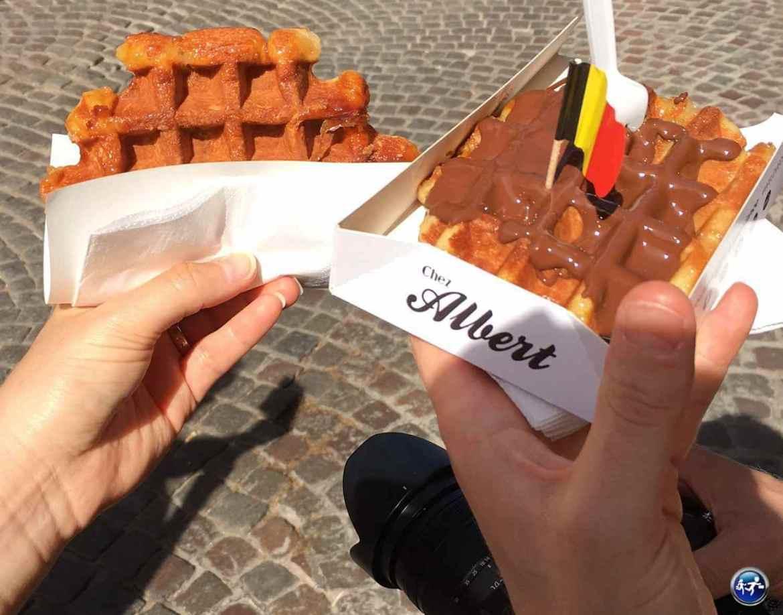 Les gaufres belges à Bruges en Belgique