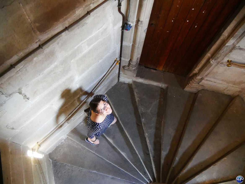 Escalier de la Tour des Echevins à Luxeuil-les-Bains