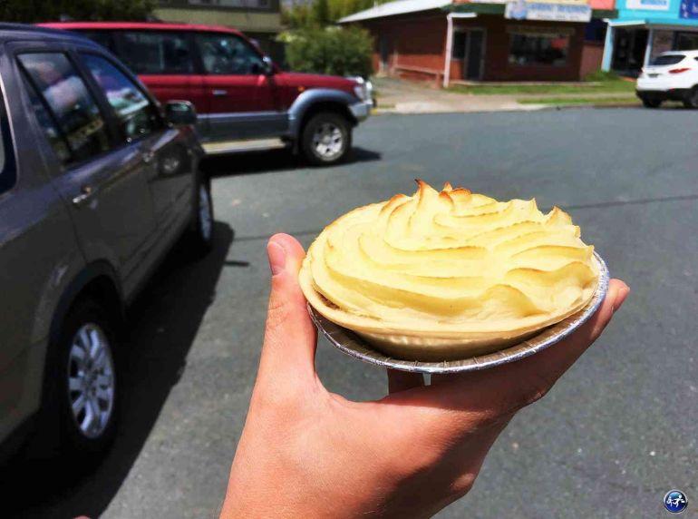 Pie typique des bords de routes en Australie