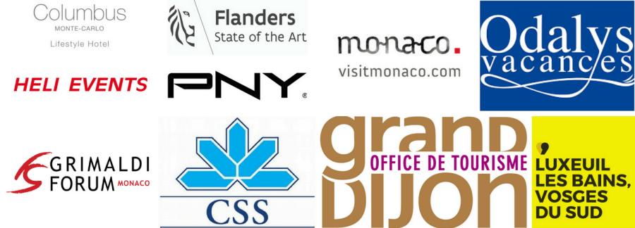 Logos partenaires du blog voyage chic et cosy On holidays again