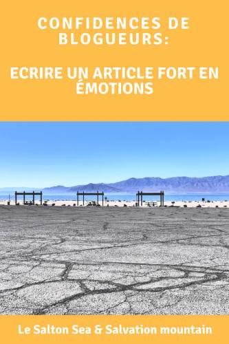 Ecriture article les coulisses du Salton Sea Pinterest