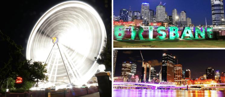 Vues de Brisbane de nuit