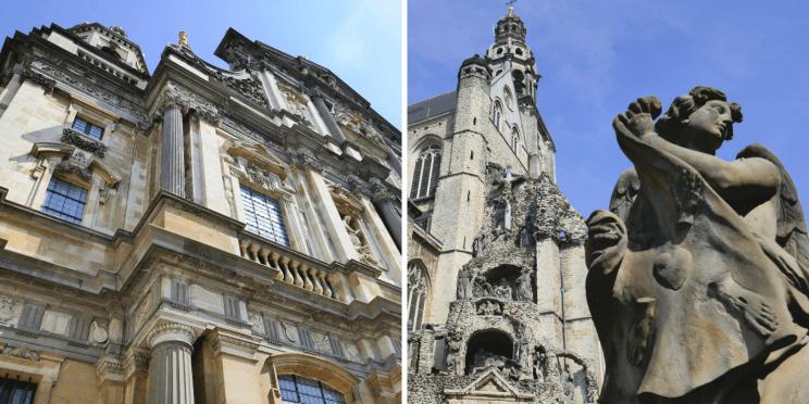 L'architecture baroque sur des églises d'Anvers