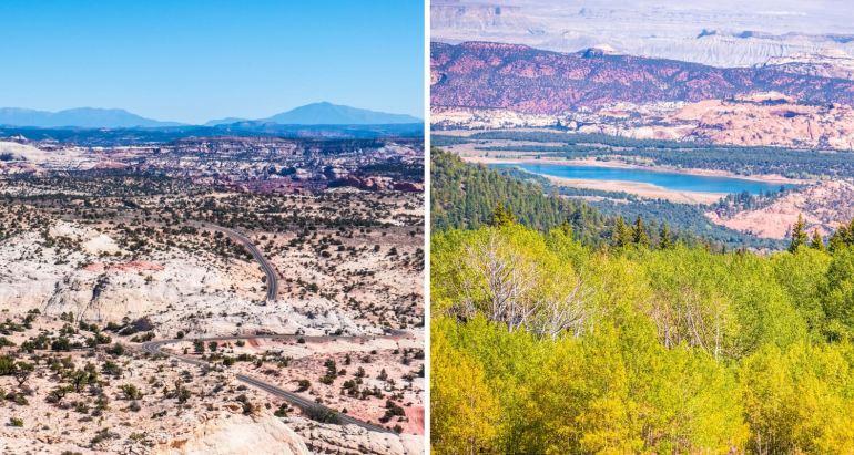 Route 12 en Utah, road trip Ouest américain
