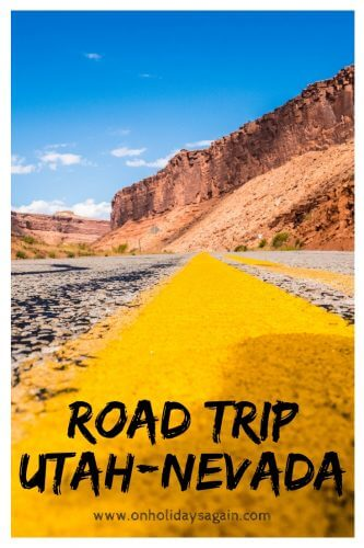 Road trip Ouest américain Utat Nevada Pinterest