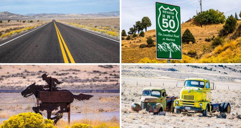 Route 50 dans le Nevada, road trip Ouest américain