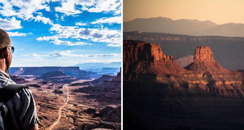 Vue depuis Canyonlands et Dead Horse Point en Utah
