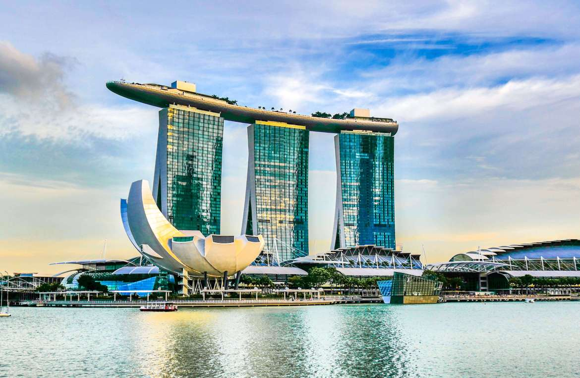 Marina bay Sands depuis Esplanade Theatres by the bay Singapour