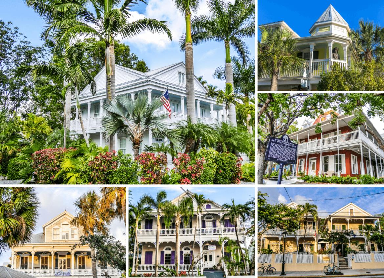 Maisons coloniales de style conch à Key West